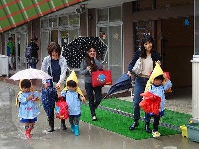首都圏直下型地震園児引き渡し訓練避難訓練