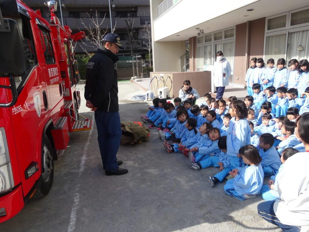 消防車避難訓練